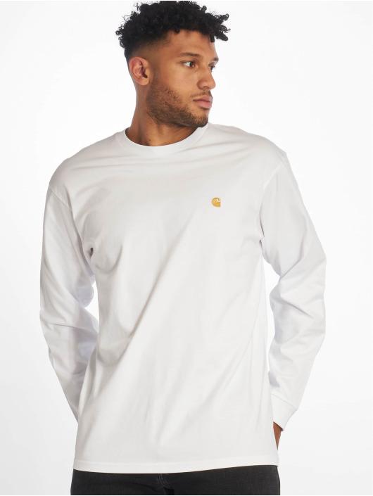 Carhartt WIP Camiseta de manga larga Chase blanco