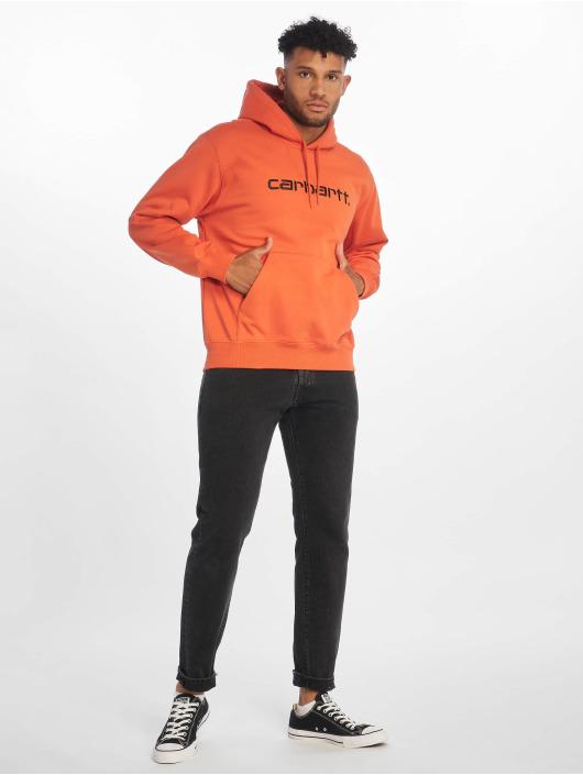 Carhartt WIP Felpa con cappuccio Label arancio