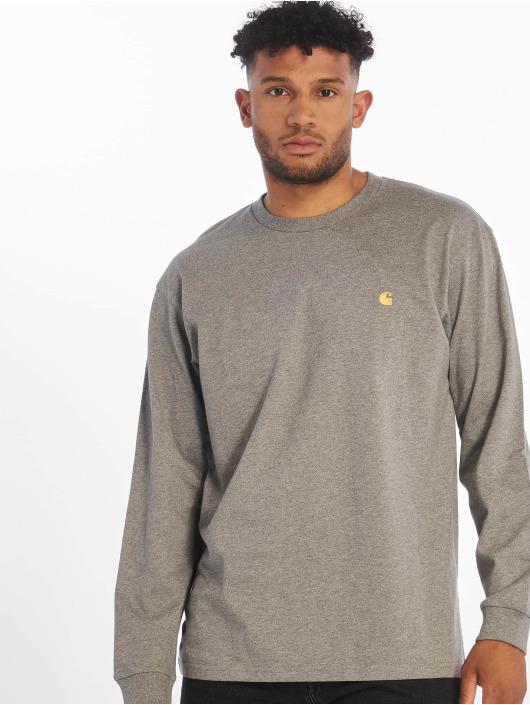Carhartt WIP Maglietta a manica lunga Chase grigio