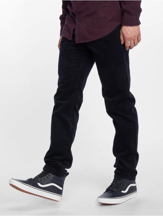 Carhartt WIP Menčestrové nohavice Klondike modrá