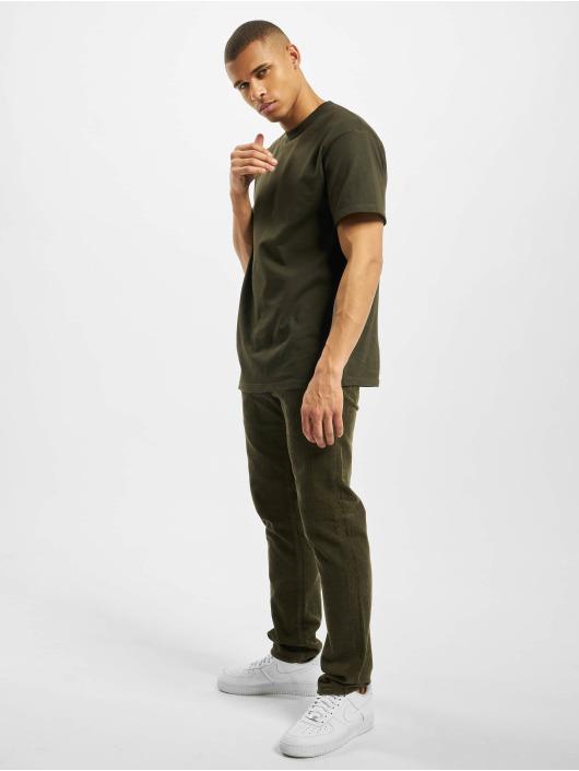 Carhartt WIP Menčestrové nohavice Klondike zelená