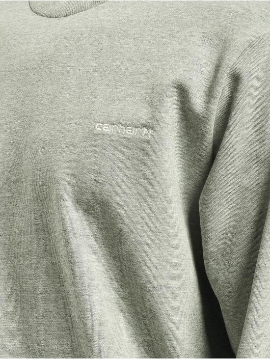 Carhartt WIP Pulóvre Script Embroidery šedá