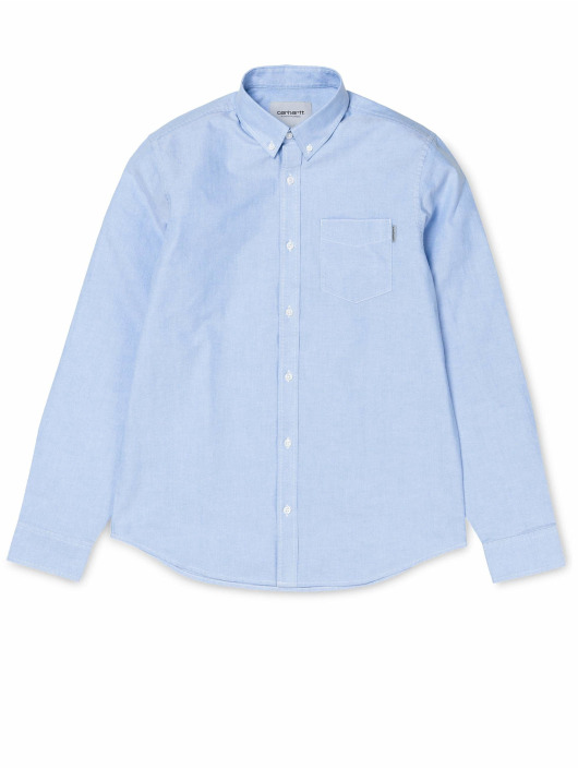 Carhartt WIP Skjorter Button Down Pocket blå
