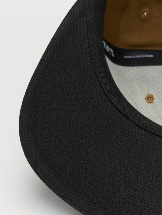 Carhartt WIP Snapback Cap Logo Bi-Colored braun