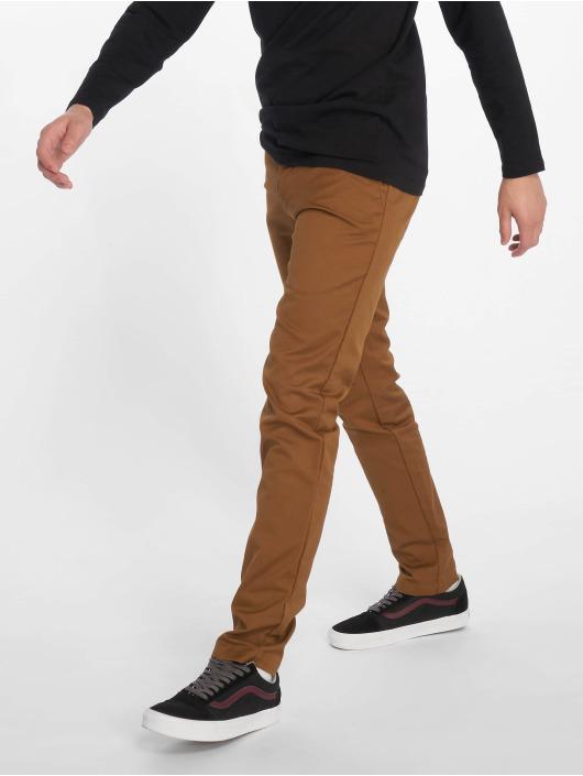 Carhartt WIP Spodnie wizytowe Lamar Super Slim Fit Sid Chino brazowy