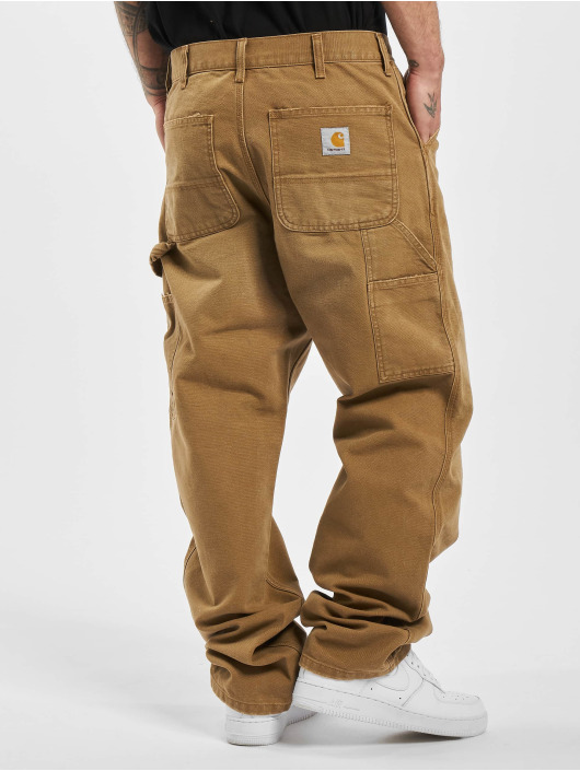 Carhartt WIP Stoffbukser Single Knee brun