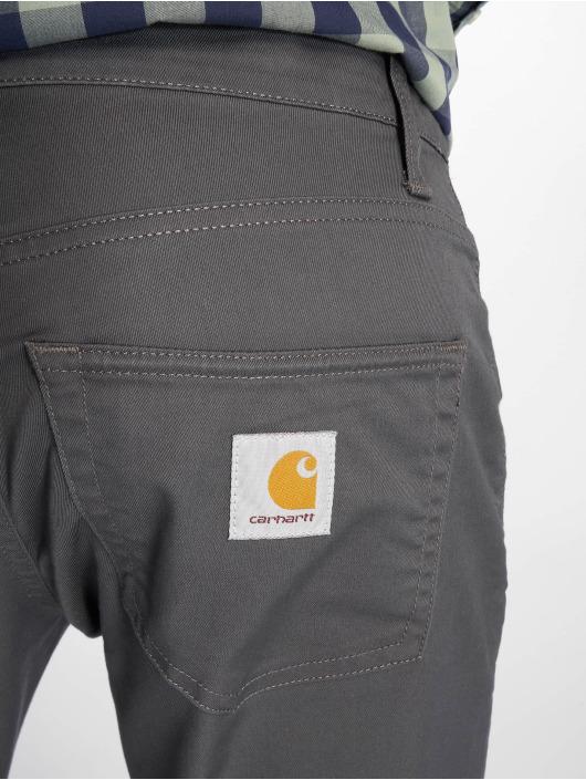 Carhartt WIP Straight Fit Jeans Klondike šedá