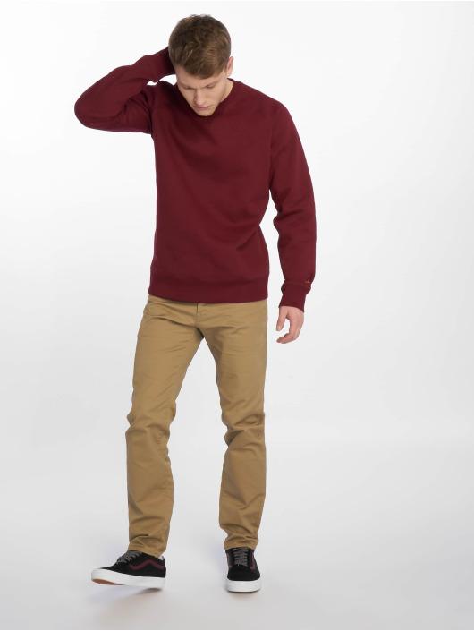 Carhartt WIP Straight Fit Jeans Klondike béžový