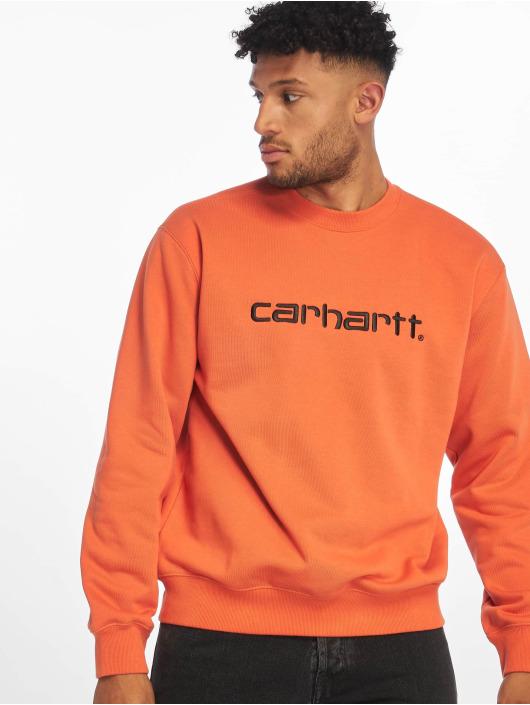 Carhartt WIP Svetry Label oranžový