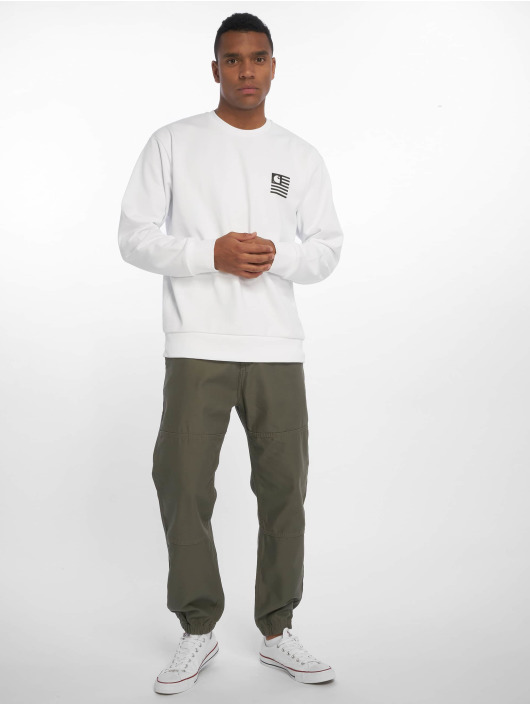 Carhartt WIP Swetry State Patch bialy