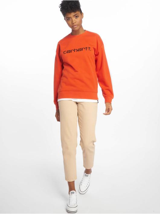 Carhartt WIP Swetry Basic pomaranczowy