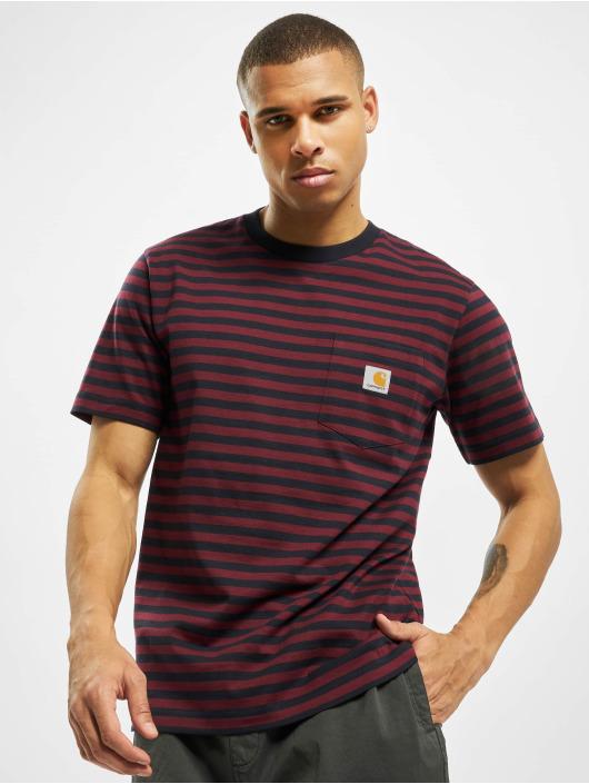 Carhartt WIP T-paidat Haldon Pocket sininen