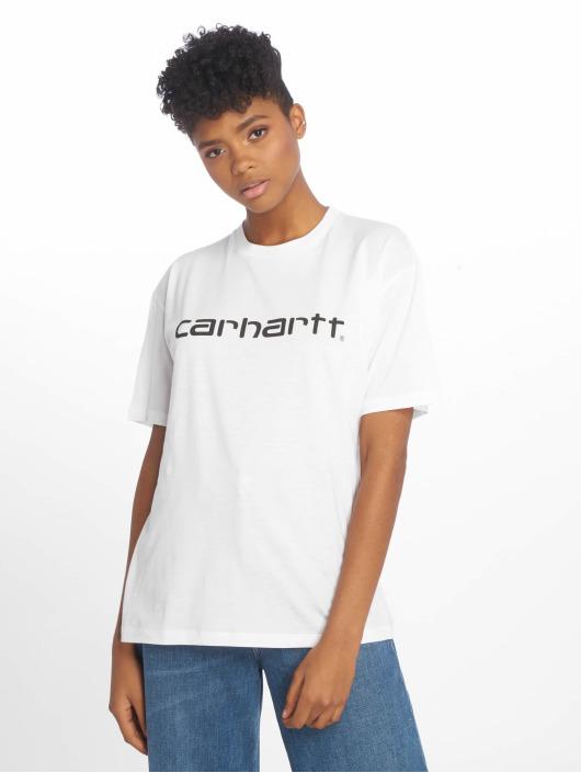 Carhartt WIP T-paidat Script valkoinen