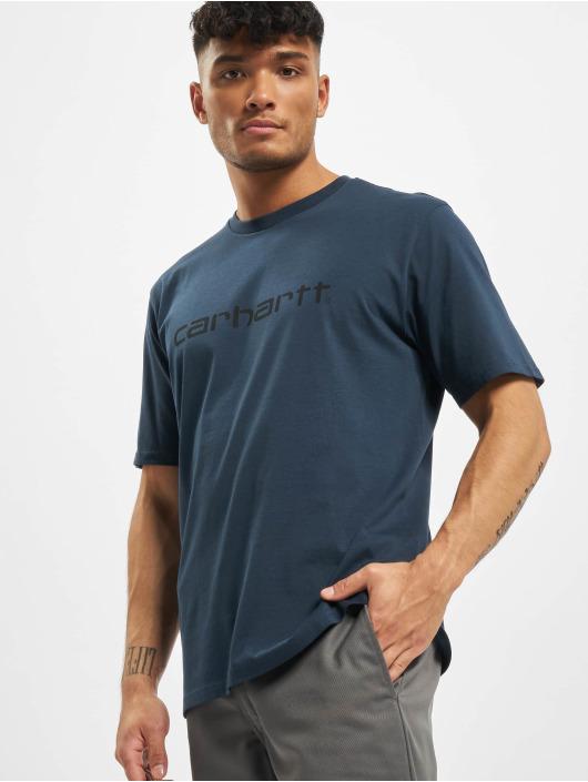 Carhartt WIP T-Shirt Script blau