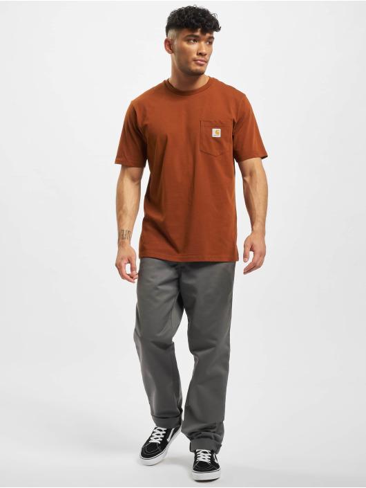 Carhartt WIP T-Shirt Pocket brown