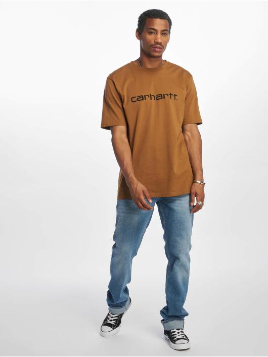 Carhartt WIP T-shirt Script brun