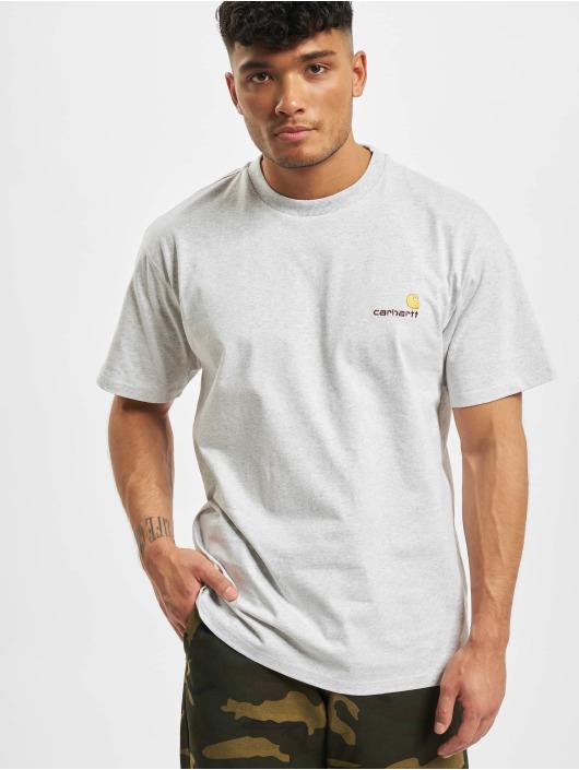 Carhartt WIP T-Shirt American Script gray