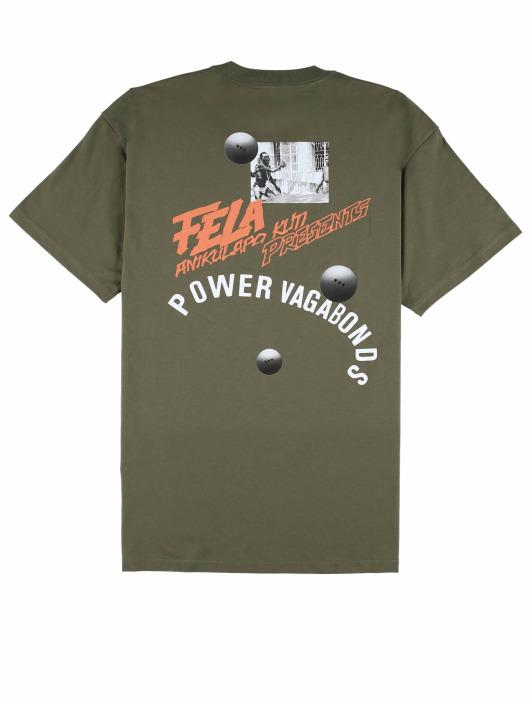 Carhartt WIP T-Shirt Power Vagabonds grün