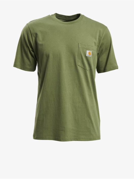 Carhartt WIP T-Shirt Pocket grün