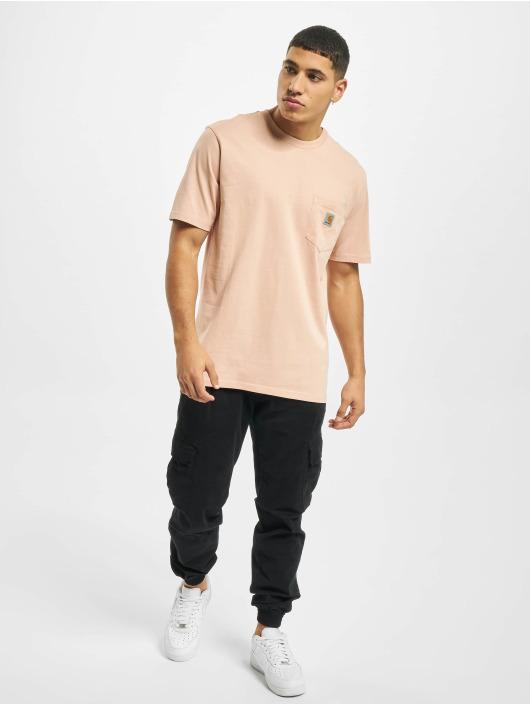 Carhartt WIP T-Shirt Pocket rosa