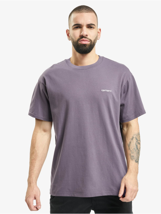 Carhartt WIP T-Shirt Script Embroidery violet