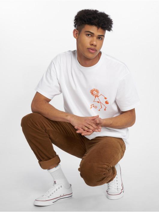 Carhartt WIP T-Shirt Trojan King Of Sound weiß