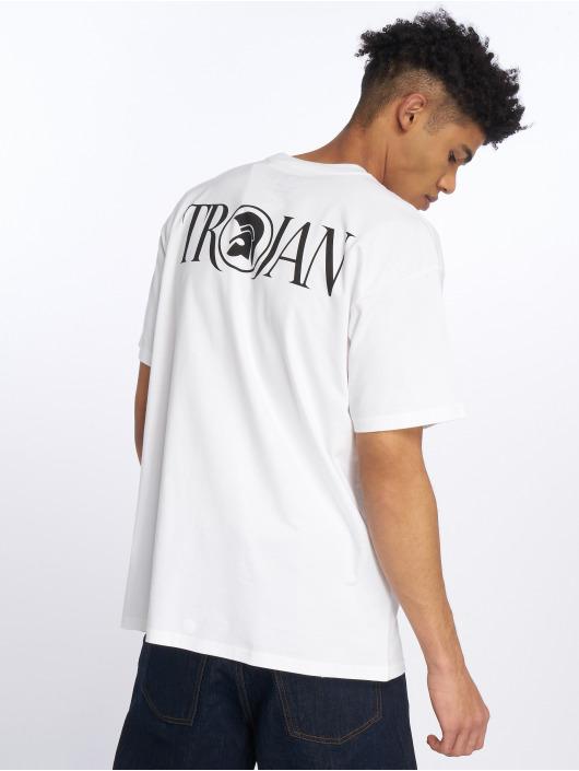 Carhartt WIP T-Shirty WIP Trojan Moonstomp bialy