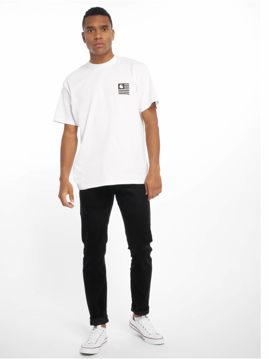Carhartt WIP T-Shirty State Patch bialy