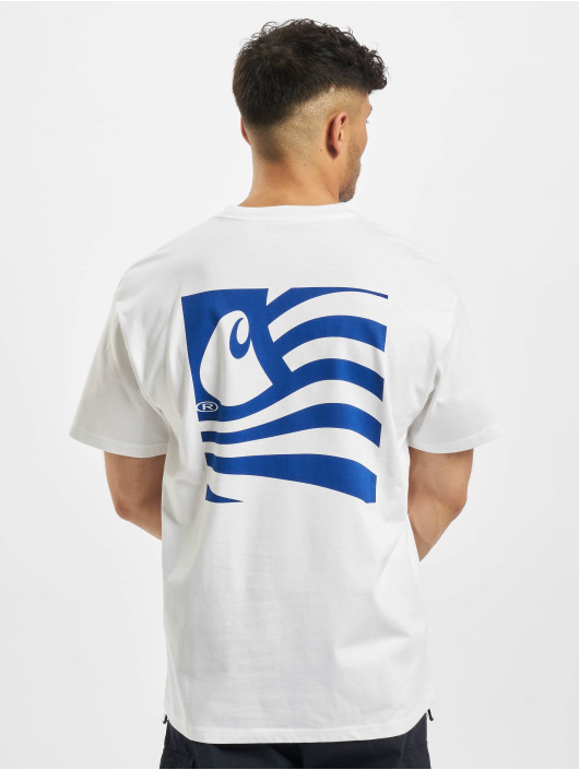Carhartt WIP T-Shirty Waving State Flag bialy