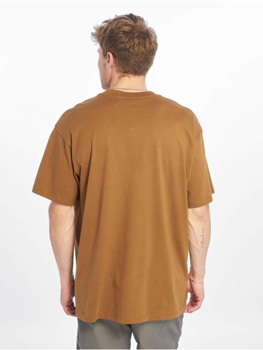 Carhartt WIP T-Shirty Script Embroidery brazowy