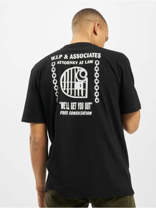 Carhartt WIP T-Shirty Law czarny
