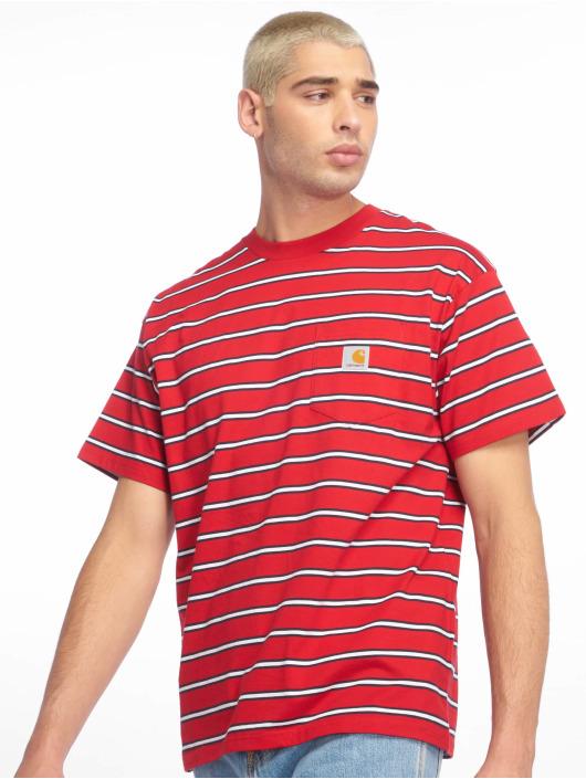 Carhartt WIP T-Shirty Houston Pocket czerwony