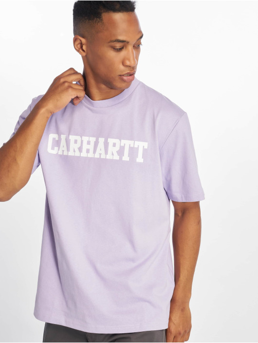 Carhartt WIP T-Shirty College fioletowy