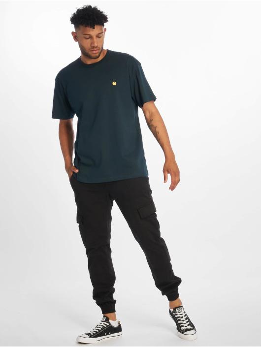 Carhartt WIP T-Shirty Chase niebieski