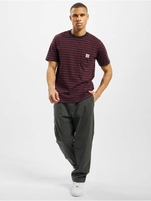 Carhartt WIP T-Shirty Haldon Pocket niebieski