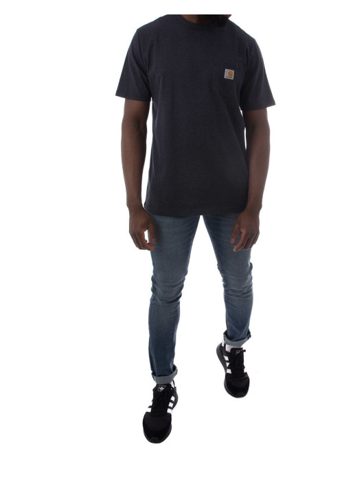 Carhartt WIP T-skjorter SS Pocket blå