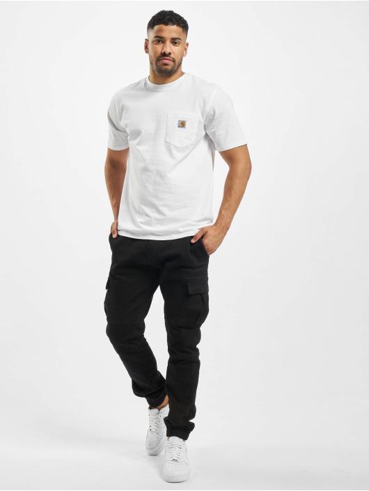 Carhartt WIP T-skjorter SS Pocket hvit