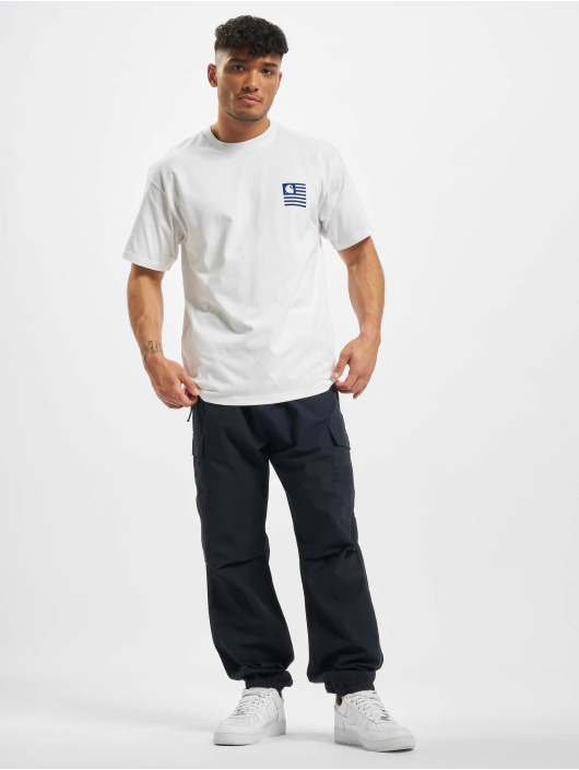Carhartt WIP T-skjorter Waving State Flag hvit