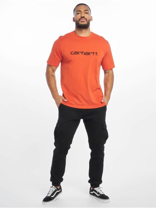 Carhartt WIP T-skjorter Script oransje