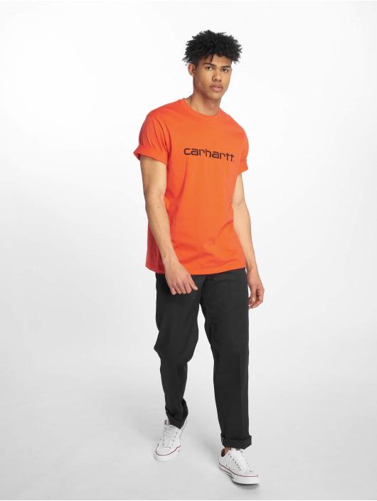 Carhartt WIP T-skjorter Script red