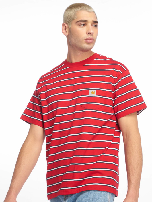 Carhartt WIP T-skjorter Houston Pocket red