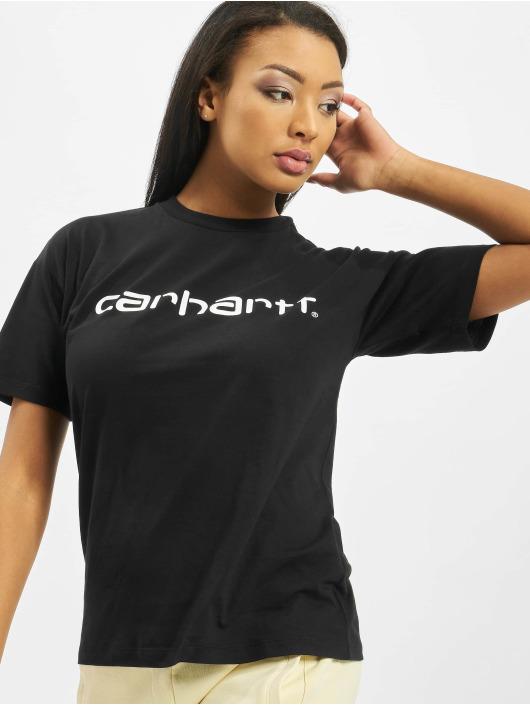 Carhartt WIP T-skjorter S/S Script svart