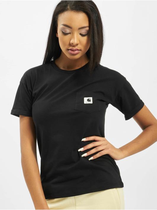 Carhartt WIP T-skjorter S/S Carrie Pocket svart