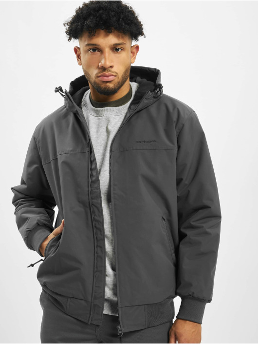 Carhartt WIP Transitional Jackets Hooded Sail grå