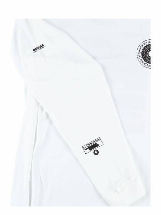 Carhartt WIP Tričká dlhý rukáv Confidential biela