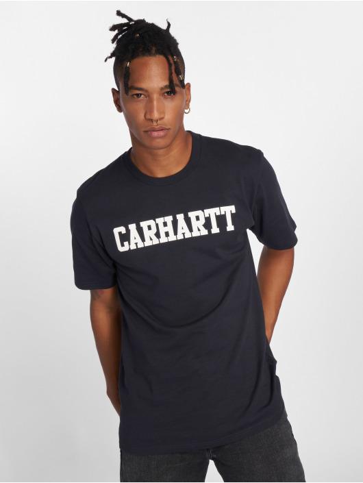 Carhartt WIP Tričká College modrá