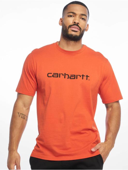 Carhartt WIP Tričká Script oranžová