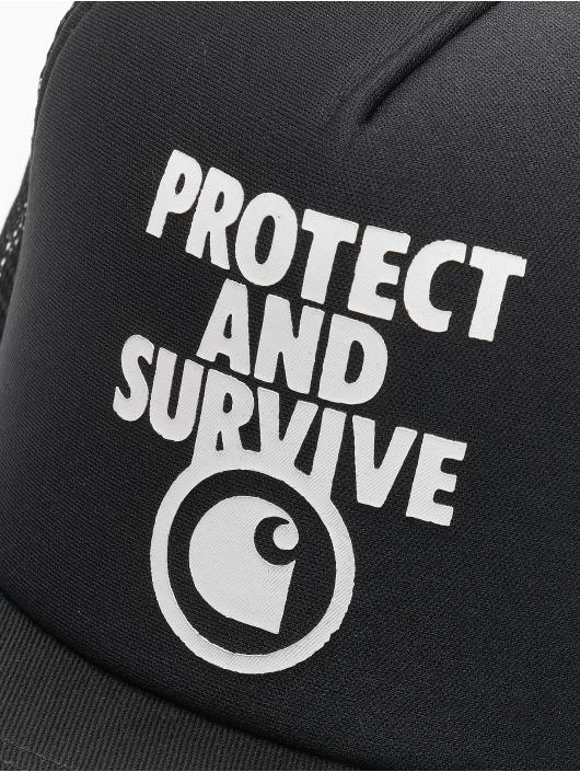 Carhartt WIP Trucker Caps Protect & Survive czarny