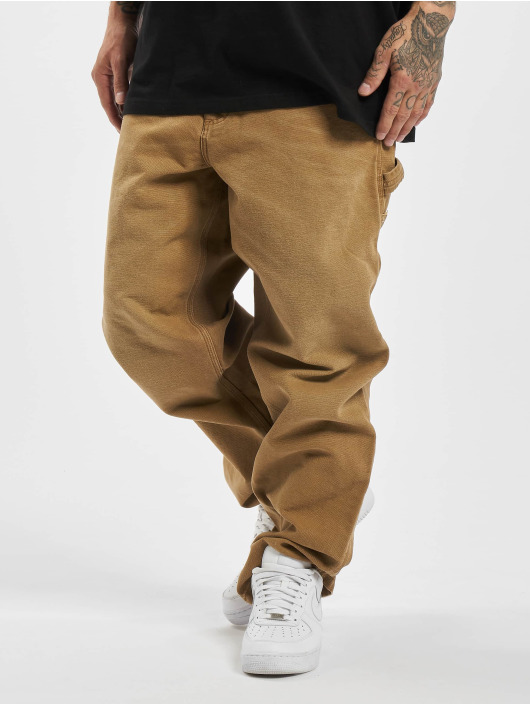 Carhartt WIP Tygbyxor Single Knee brun