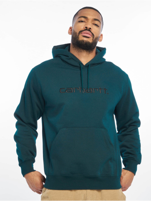 Carhartt WIP Zip Hoodie Label blå
